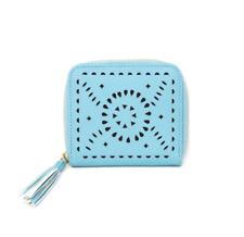 Cleobella Mexicana Zip Wallet in Turquoise Blue Beachly Exclusive