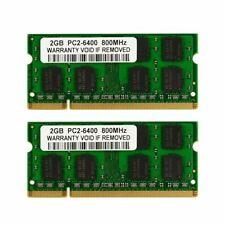 New Kit 4GB 2X2GB PC2-6400 DDR2-800 800Mhz DDR2 200pin Sodimm Laptop Memory L