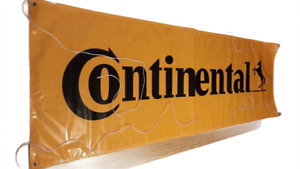 CONTINENTAL TIRES BANNER, 9.75 feet x 3 feet; NEW AND UNUSED .