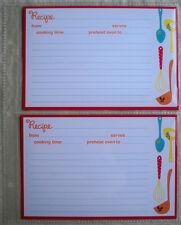 Hallmark 3-Ring Album Organizer Recipe Book 8 Pages + 16 Cards Kitchen Utensils
