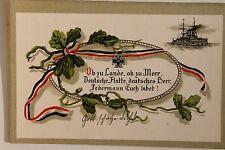 26762 AK Militär Ob zu Lande ob zu Meer deutsche Flotte Spruch 1. WK 1915 WW1 PC