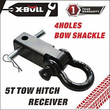 """X-BULL Trailer Hitch Shackle Bracket 2"""" Receiver 5T 3/4 inch Recovery D-ring"""