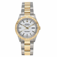 Rolex Datejust Auto 36mm Steel Yellow Gold Mens Oyster Bracelet Watch 16263
