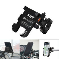 QC 3.0 Motorcycle Handlebar Mobile Cell Phone Holder Motorbike Mount USB Charge