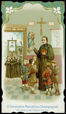 antiguo santino cromo-santo card S.MARCELINO CHAMPAGNAT