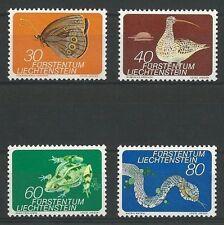 Liechtenstein Mi.Nr. 591-594** (1973) postfrisch/Kleinfauna (I)
