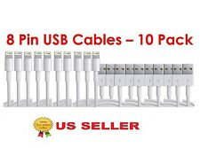 10X generic 8 Pin USB Charger Cord Sync Data Cable