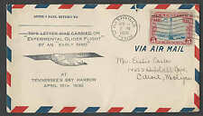 DATED 1930 COVER NASHVILLE TN EXPERIMENTAL GLIDER FLT #G3 CATS $50.00