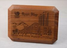 Vintage Wood Plaque Souvenir Seoul Korea Olympic Games 1988 Olympic Village