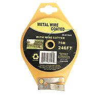 5x 246 FT Green Garden Twist Tie Metal Wire Roll w/Cutter for Gardening Kitchen
