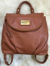 Marc By Marc Jacobs Classic Q Mariska Tan Leather Backpack Purse Bag