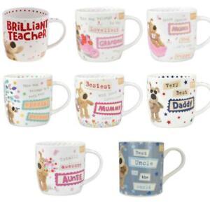 Boofle China Mug Coffee Tea Relations Boss Teacher Pup Friend Mum Dad Family