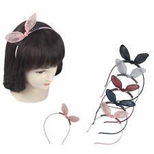 12pcs Lace Rabbit Bunny Ear Headband Hair Band Wire Hoop Bead Hairpin Accessory