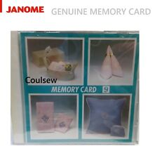 GENUINE JANOME MEMORY CARD 9 EMBLEM MONOGRAM Fits Only MC8000 ONLY