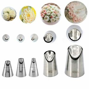Cream Baking Icing Piping  Tips Juju Tulip Stainless Steel Russian Nozzle