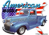1965 White Dodge Van Pickup Truck Custom Hot Rod USA T-Shirt 65 Muscle Car Tees