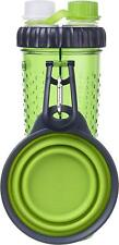 Dexas Popware H-DuO Dual Chambered Hydration Bottle with Collapsible Pet Cup