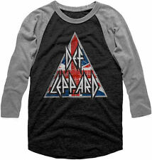 Def Leppard -Brit Logo-X-Large Raglan Baseball Jersey Tri-Blend T-shirt