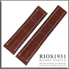 22x20 mm RIOS1931 for Panatime - Cognac Aero - Alligator Watch Band For Breitlin