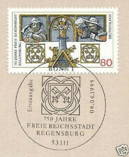 BRD 1995: Regensburg Nr 1786 mit dem sauberem Bonner Ersttagstempel! 1A 1608