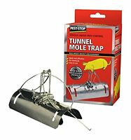 Pest-Stop Tunnel Barrel Type Mole Trap Galvanised Steel Rodent Easy Quick Killer