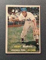 1957 Topps #176 Gene Baker Chicago Cubs VGEX