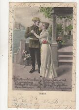 Abschied 1901 Germany Military Postcard 140b