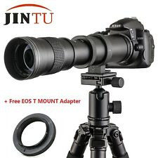 JINTU NEW 420-800mm F/8.3-16 Telephoto Zoom Lens for Canon EOS EF DSLR Camera