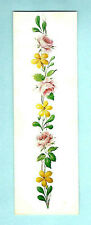 BOOKMARK Parnassus Gallery London Pink Yellow Flower Rose Floral Motif Boarder