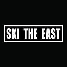 Ski The East vinyl sticker decal winter snow
