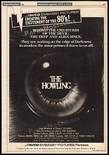 THE HOWLING__Original 1980 Cannes Trade print AD promo / poster__JOE DANTE_1981
