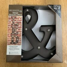 Hudson 43 Metal Marquee Letters