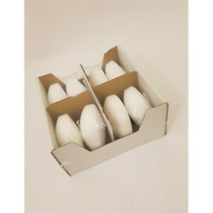 LARGE WHITE FLOATING CANDLES - PACK OF 8 - 80mm PERFECT FOR EVENTS - 8 HOUR BURN