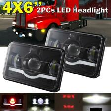 "2pcs 4x6"" inch Rectangle Led Headlight Hi-Lo Seal Beam for Peterbilt Kenworth"