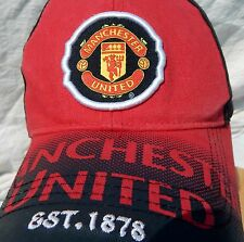 Manchester United Offical Merchandise Adjustable Hat One Size 100% Cotton