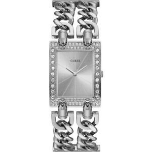 Orologio Donna GUESS HEAVY METAL W1121L1 Bracciale Acciaio Silver Swarovski