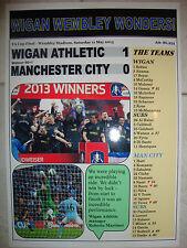 Wigan Athletic 1 Manchester City 0 - 2013 FA Cup final - souvenir print