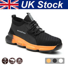 Mens Safety Shoes Steel Toe Cap Work Boots Women Lightweight Safety Trainers !