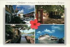Antigua West Indies Caribbean, Cruise Ship, Red Telephone Booth, etc. - Postcard