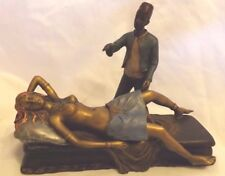 Cold Painted Bronze Figure ~ Magician and Assistant ~ Erotic Vienna Bergman Int