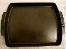 Staub rectangular cast iron black oven plate