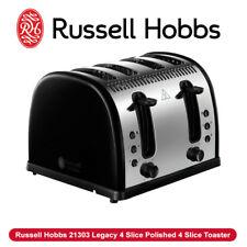 NEW Russell Hobbs 21303 Legacy 4 Slice Polished 4 Slice Toaster Black