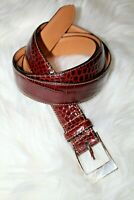 Trafalgar Norwalk Ct Men's Cordova Leather Belt 44, Alligator embossed texture