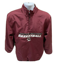 Boston College Eagles Basketball Reebok 1/4 Zip Pullover Jacket Maroon Mens S