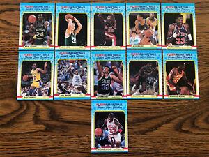 1988-89 Fleer Basketball Super Star Sticker Complete Set With Michael Jordan