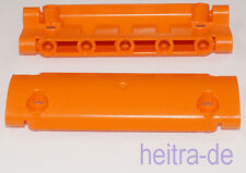 LEGO Technik - 2 x Panel gebogen 11x3 orange / Panel Curved / 62531 NEUWARE