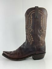 Lucchese 1883 Mens Cowboy Boots Size 10.5 D Brown Leather Upper Leather Sole