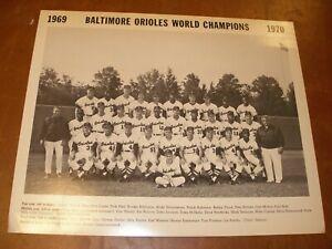 1970 World Series Champion Baltimore Orioles Team Photo Poster - Robinson Palmer