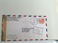 U.S. Army post Passed by Examiner 1943 Guadal Canal Solomons cover Ref R25477