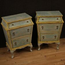 Pair Of Nightstands Furniture Coffee Tables Wooden Painting Room Antique Style
